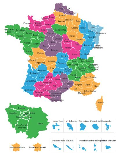 Carte diocèses