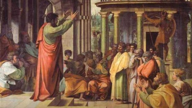 Saint Paul prêchant