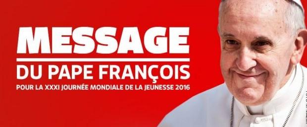 message pape françois 31ème JMJ 2016