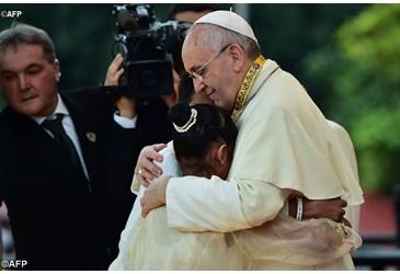 pape François à Manille janvier 2015