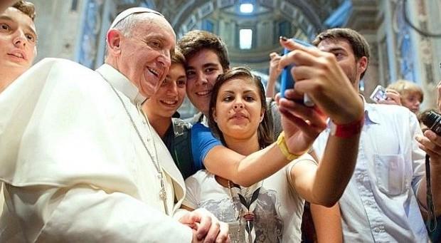 selfie pape François