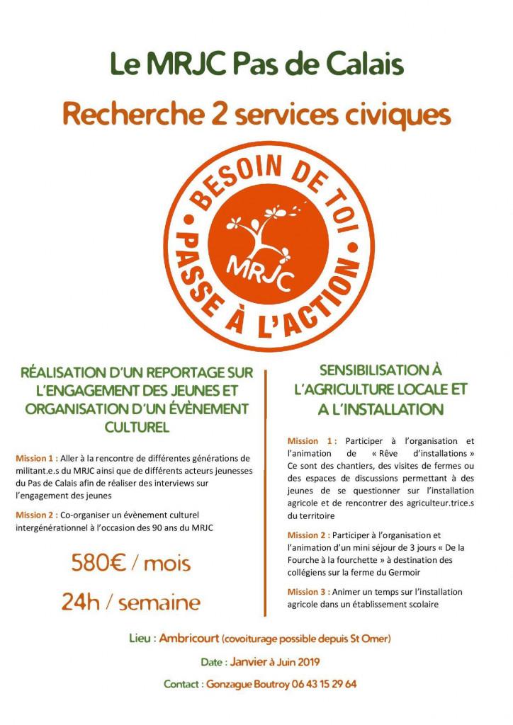 Services civiques - MRJC