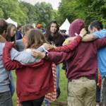 4 juin 2017 : 12 000 jeunes de 13 à 15 ans, se sont rassemblés à Jambville, pour Le FRAT (Le Fraternel), le pèlerinage des jeunes chrétiens d'Ile-de-France. Jambville (78), France.
