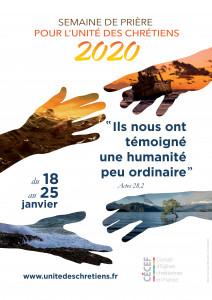 Affiche unité des chrétiens 2020