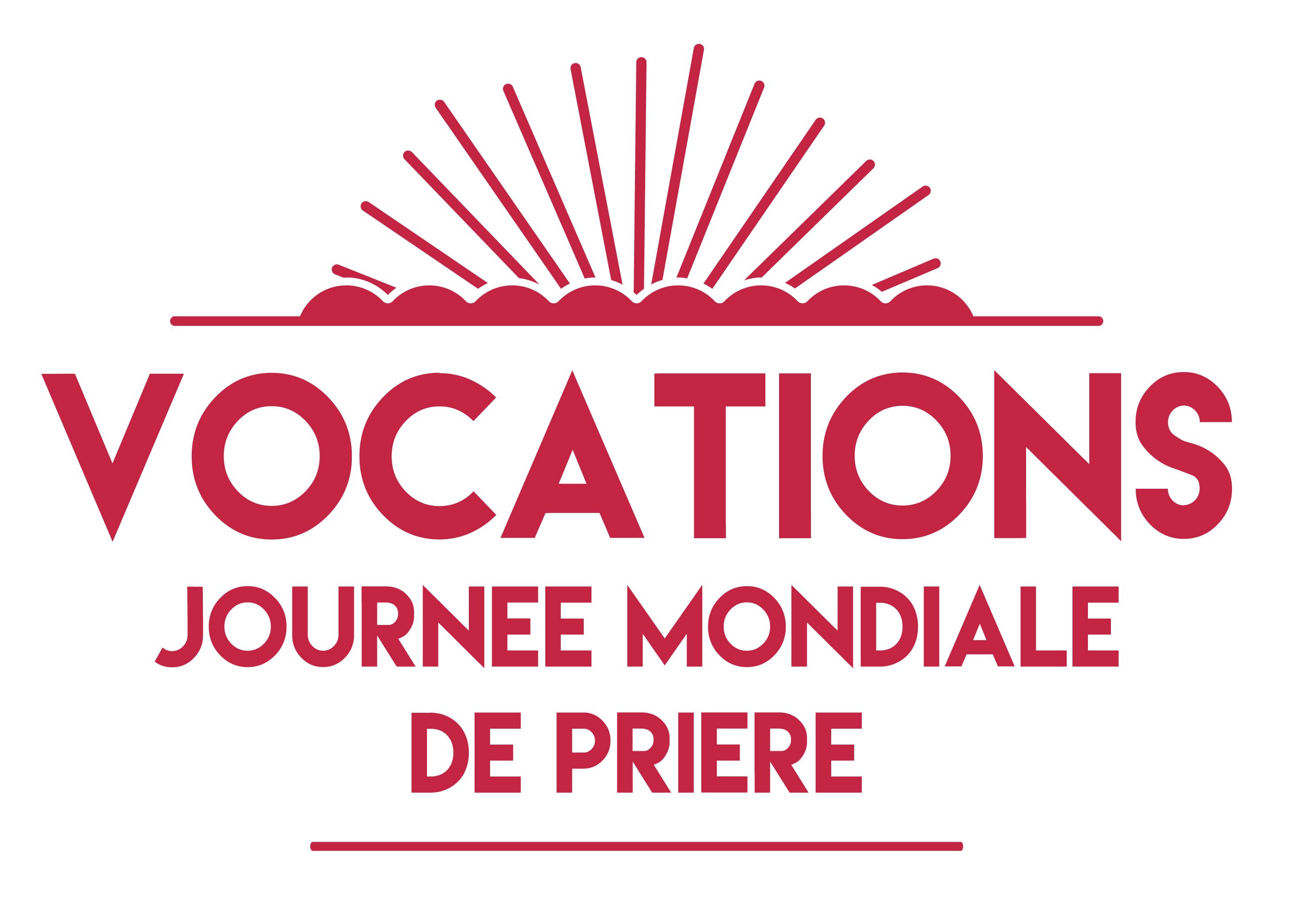 Logo Vocation rouge sur blanc